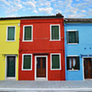 Primary Colors Too Burano Italy Poster