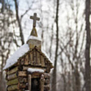 Primitive Church In The Mountains Poster