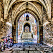 Princeton University Arches And Stairway To Education Poster