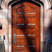 Princeton University Wood Door  Poster