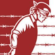 Prisoner Blindfolded Poster