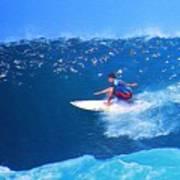 Pro Surfer Ezekiel Lau-3 Poster