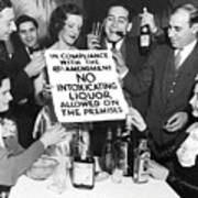 Prohibition Ends Let's Party Poster