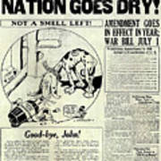Prohibition Nation Goes Dry Poster
