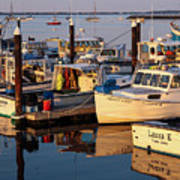 Provincetown Fishing Boats, Ptown, Ma Poster