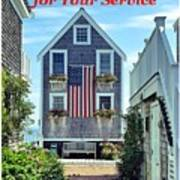 Provincetown Patriot By Sharon Eng Poster