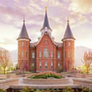 Provo City Center Temple Dawn Poster