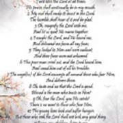 Psalm 34 Pg 2 Poster