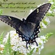 Psalm Scripture - Swallowtail Poster