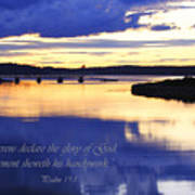 Psalm Reflected At Acadia National Park Two Poster