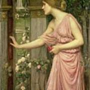 Psyche Entering Cupid's Garden Poster by John William Waterhouse