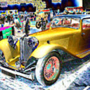 Psychedelic 1930 Jaguar Ss1 At London Classic Car Show 2015 Poster