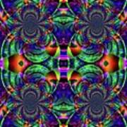 Psychedelic Abstract Kaleidoscope Poster