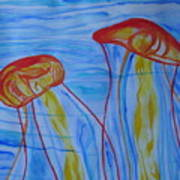 Psychedelic Lion's Mane Jellyfish Poster