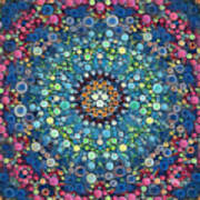 Psychedelic Mandala Poster