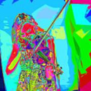 Psychedelic Violinist Poster