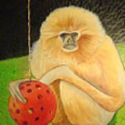 Psychic Monkey Poster