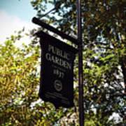 Public Garden 1837 Boston Poster