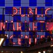 Public Market Checkerboard Poster
