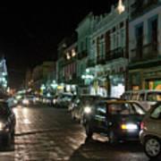 Puebla At Night 1 Poster