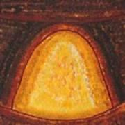 Pueblo Kiva Fireplace Original Painting Poster
