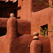 Pueblo Revival Style Architecture II Poster