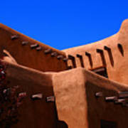 Pueblo Revival Style Architecture In Santa Fe Poster
