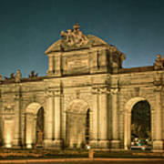 Puerta De Alcala Night Poster