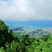 Puerto Plata Mountain View Of The Sea Poster