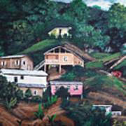 Puerto Rico Mountain View Poster