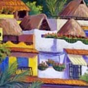 Puerto Vallarta Hillside Poster by Candy Mayer