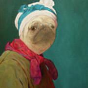 Pugdin Self-portrait Poster