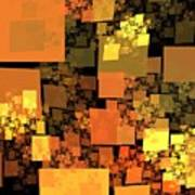 Pumpkin Autumn Cubes Poster