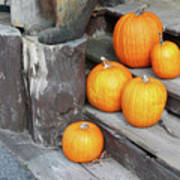 Pumpkin Autumn In Adirondacks Poster by Kate  Leikin