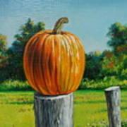 Pumpkin Post Poster