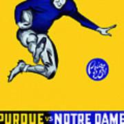 Purdue V Notre Dame 1947 Program Poster