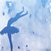 Purple Ballerina Silhouette Poster