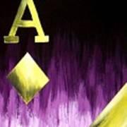 Purple Aces Poker Art2of4 Poster