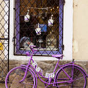 Purple Bicycle Poster