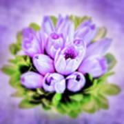 Purple Bouquet Poster