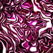 Purple Cabbage Topographical Poster