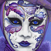 Purple Carnival Mask  Poster