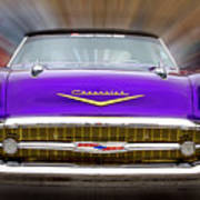 Purple Chevy Poster