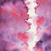 Purple Clouds Abstract Watercolor Poster