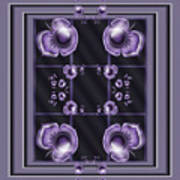 Purple Dimensions Poster