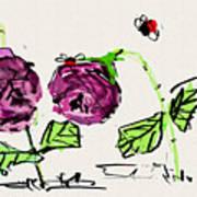 Purple  Flowers Grow Poster