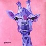 Purple Giraffe Poster