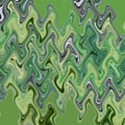 Purple Green Smoke Swirl Poster