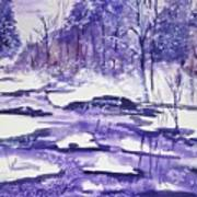 Purple Ice On Kaaterskill Creek Poster