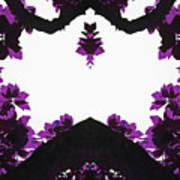 Purple Leaves Poster